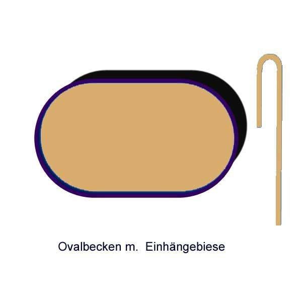 Ersatzinnenhülle Ovalbecken 0,8 mm sandfarben Einhängebiese