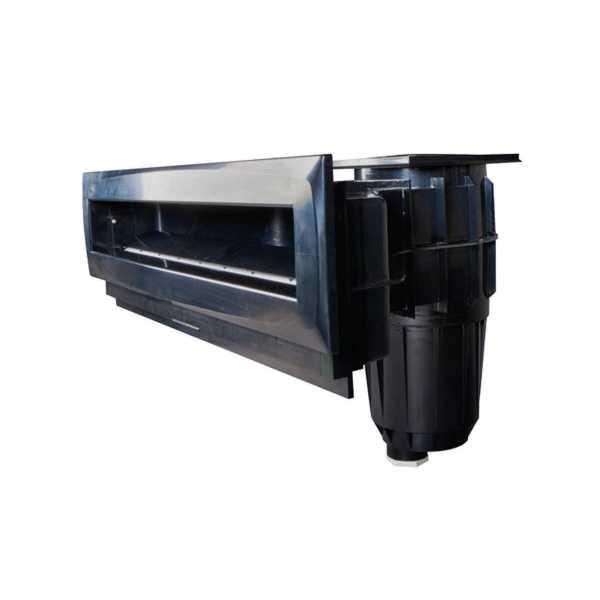 Hochwasserstandsskimmer Smart High75 schwarz ABS