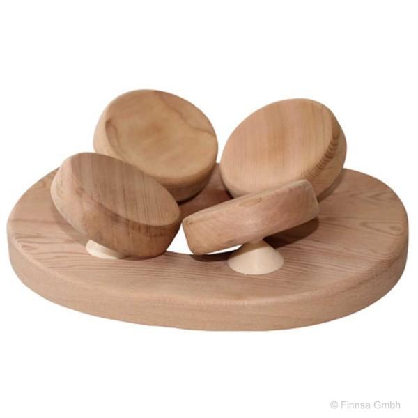 Finnsa 4 Punkt Kopfstütze aus Red Cedar Holz