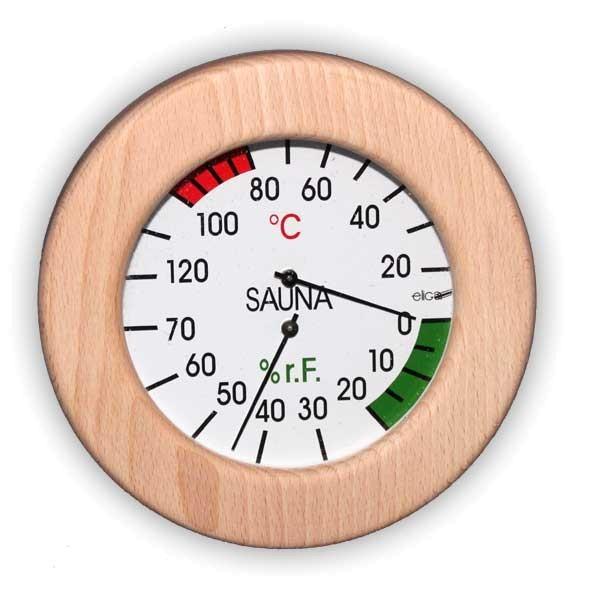 Sauna Klimamesser Holzrahmen