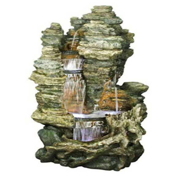 Ubbink Wasserfall Miami, Felsstruktur, Polyresin, 106*83*157 cm, 4x8 LEDs