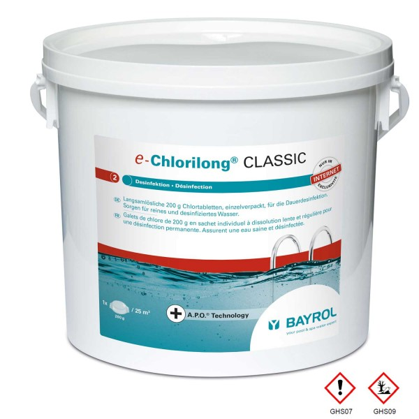 Bayrol E Chlorilong Classic 5 kg mit Clorodor Control®-Kapsel