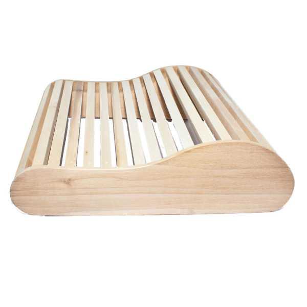 Holzkissen für Sauna und Schwimmbad aus Pappelholz
