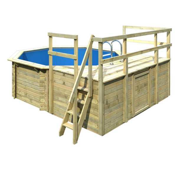 Karibu Holzpool Gartenpool Modell 1 Variante D
