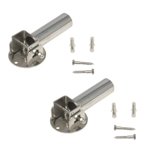 V4A-Gelenke mit Arretierung für Leiterholme Ø 43 mm, für Flanschmontage