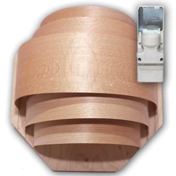 Sauna Leuchtenset gross mit Winkelfassung