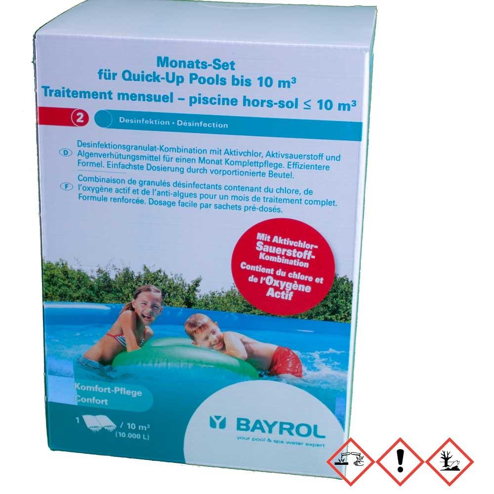 bayrol monats set f r quick up pool bis 10 m inhalt. Black Bedroom Furniture Sets. Home Design Ideas