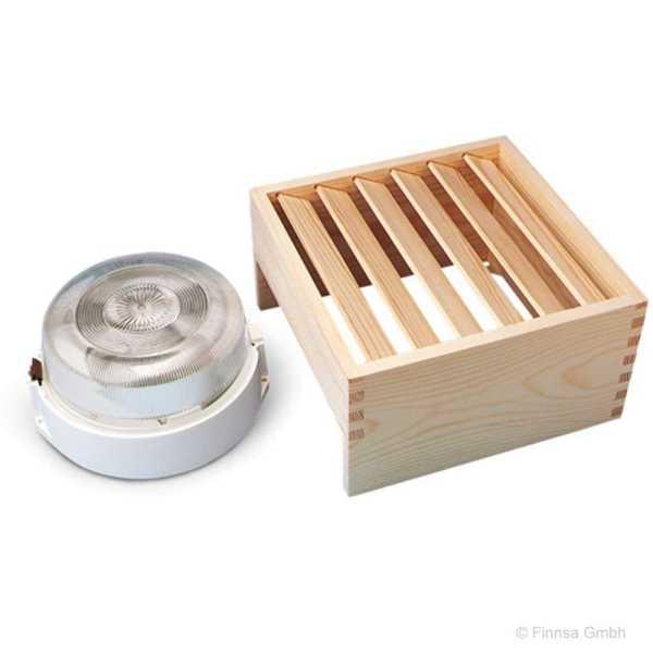 Sauna Wandleuchte Quadro einsetzbar bis 125 Grad
