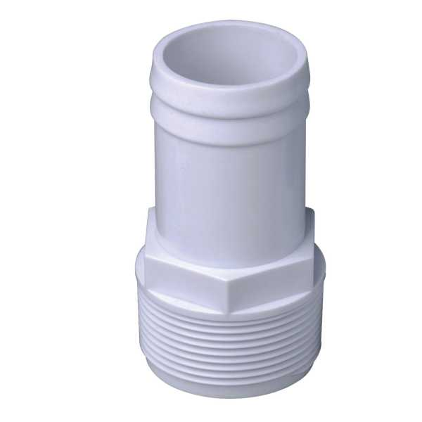 Schlauchtülle  1 1/2 Zoll Außengewinde auf Schlauchanschluss 38 mm