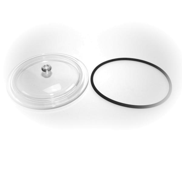 Transparenter Filterdeckel mit O Ring für Cantabric Filterkessel