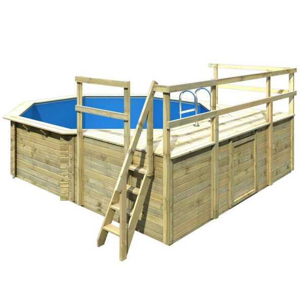 Karibu Holzpool Gartenpool Modell 2 Variante D