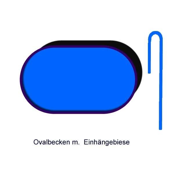 Ersatzinnenhülle Ovalbecken 0,6 mm blau Einhängebiese