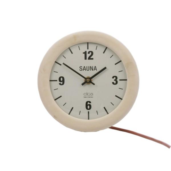 Sauna Uhr elektrisch rund 210 mm