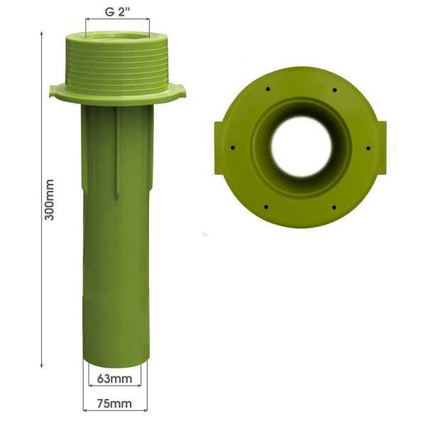 MTS Beckenwanddurchführung 300 mm 63/75 mit Bohrungen