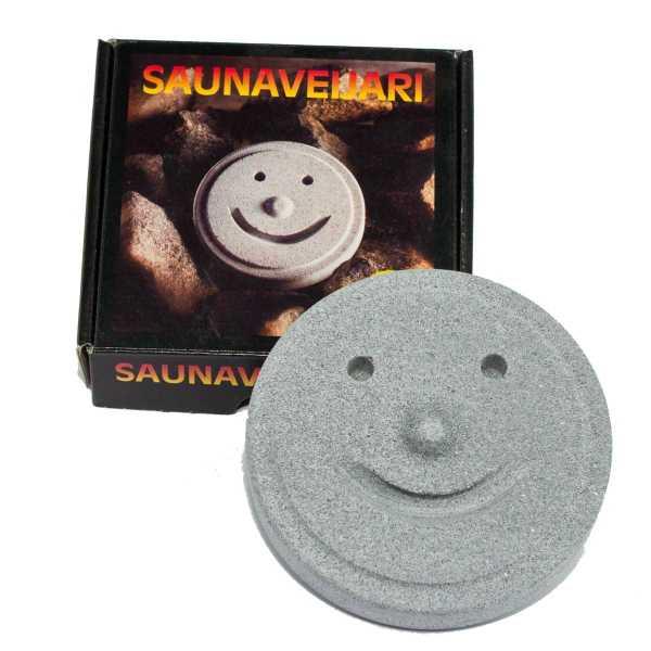 Hukka Saunaveijari , der Saunakobold aus Speckstein