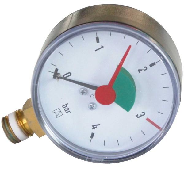 Manometer für Filterkessel Gewinde 1/4 Zoll selbstdichtend