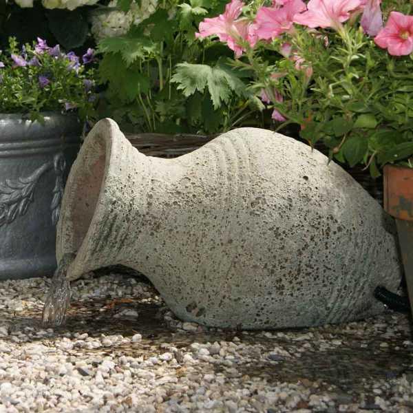 Ubbink Gartenbrunnen Larissa, Amphore im Antiklook, Keramik 30 x 53 x 34 cm