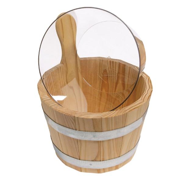 Sauna Kübel 5 l Standard Lärche natur mit Einsatz