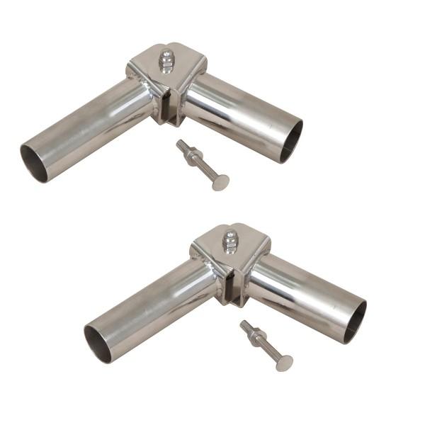 V4A-Gelenke mit Arretierung für Leiterholme Ø 43 mm, für Einbauhülsenmontage