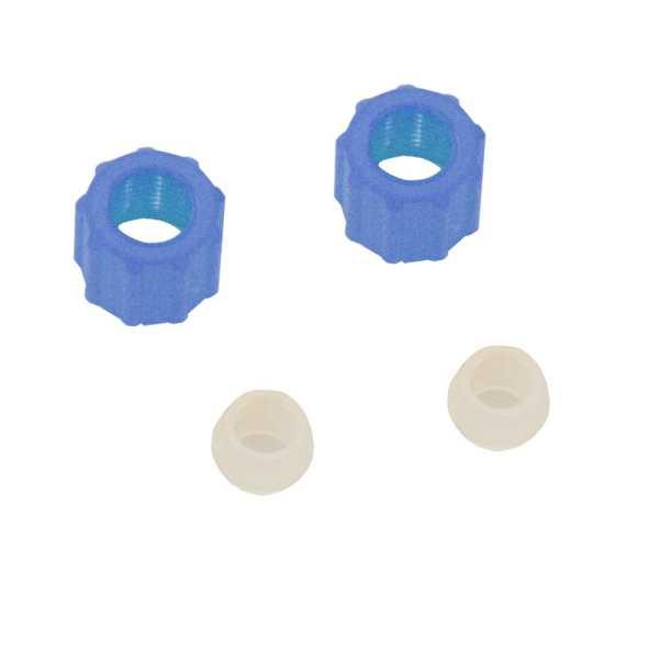 Überwurfmutter mit Stützring blau (2 Stück für Schlauchanschluss) für wg dosing