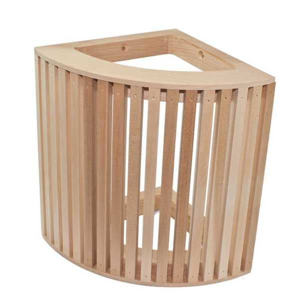 Sauna Ecklampenschirm Blendschirm aus Pappelholz