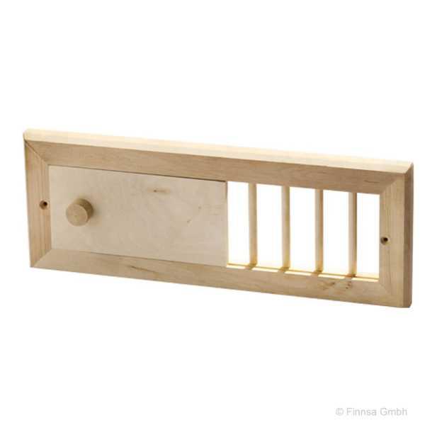 Finnsa Sauna Lüftungsschieber aus Erlenholz