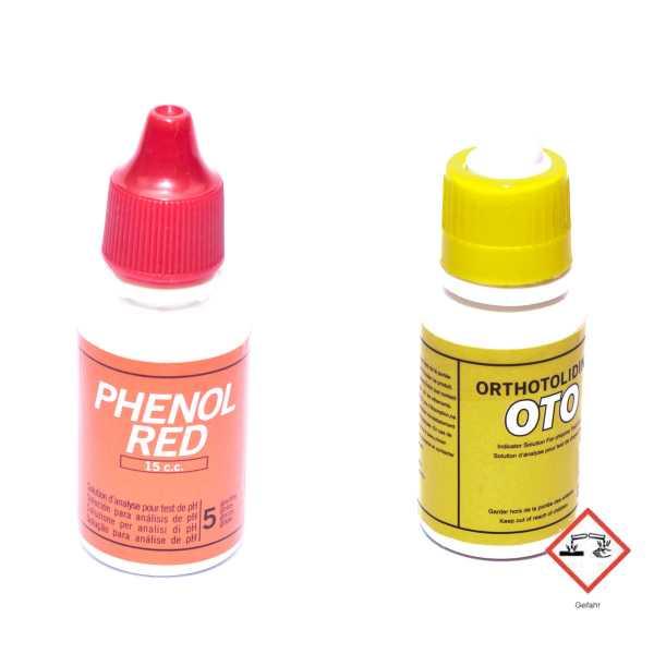 Nachfüllflaschen für Pooltester PH und Chlor