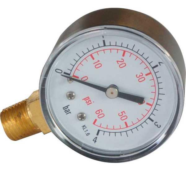 Manometer für Sandfilteranlagen
