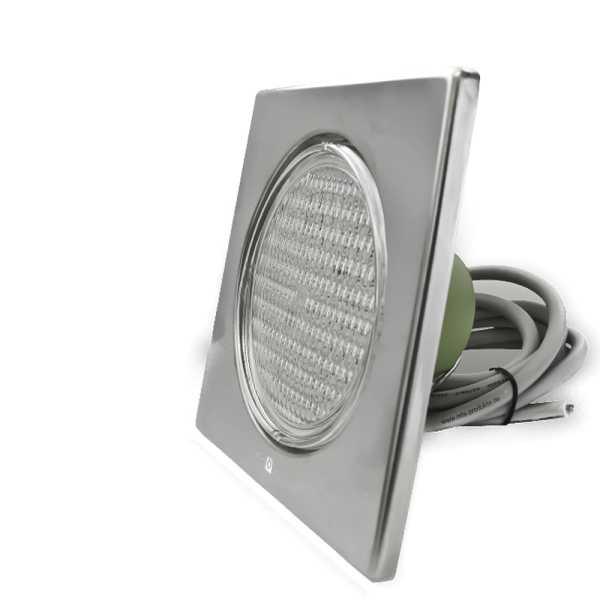 Led poolscheinwerfer edelstahl kaltweiss versandkostenfrei for Stahl pool eckig