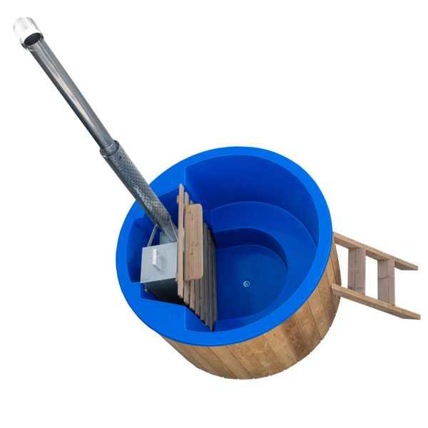 Badezuber mit Innenofen + Einsatz aus Sanitäracryl Rund Durchmesser 1,8 m