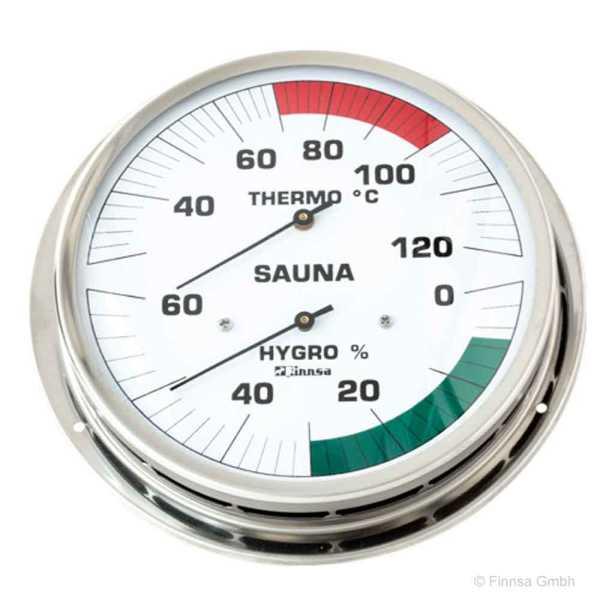 Finnsa Sauna Hygrotherm  130 mm Skala  mit Anschraubflansch
