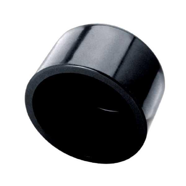PVC Klebekappe d 50 schwarz