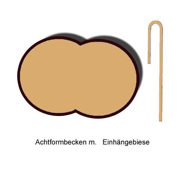 Ersatzinnenhülle Achtformbecken 0,8 mm sandfarben Einhängebiese