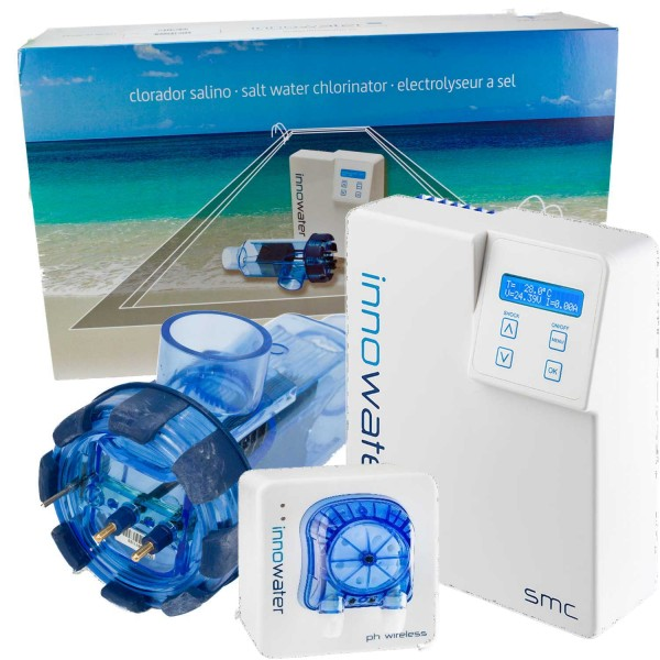 Salzlektrolyse SMC 50 + wireless PH Regulierung f. 150 - 200 m³