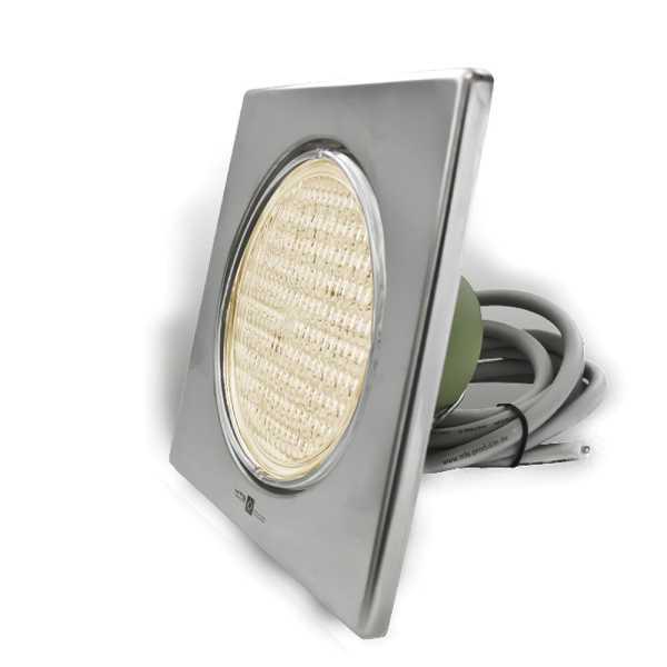 LED Poolscheinwerfer Edelstahl V4A warmweiß
