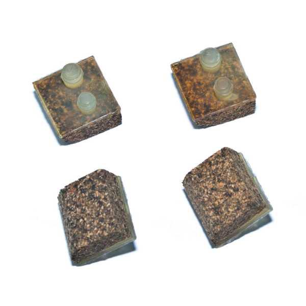 Gleitfüße für Aqua Bug-Serie, Kork, 4er Satz für Folien-/Polyesterbecken