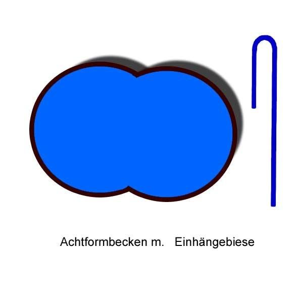 Ersatzinnenhülle Achtformbecken 0,6 mm blau Einhängebiese