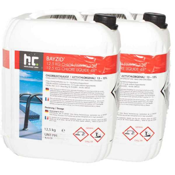 Bayzid Chlor flüssig Chlorbleichlauge 2 x 12,5 kg