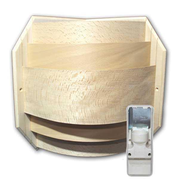Sauna Leuchtenset für Eckmontage