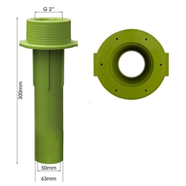 MTS Beckenwanddurchführung 300 mm mit Bohrungen