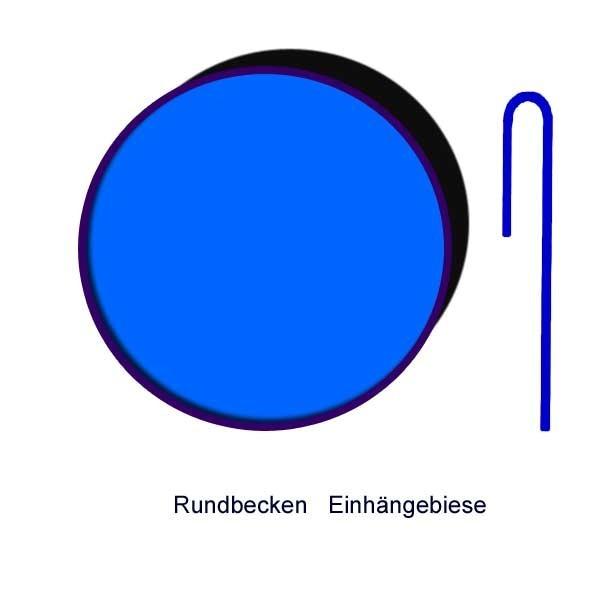 Ersatzinnenhülle Kinderbadebecken 0,6 mm adriablau Einhängebiese