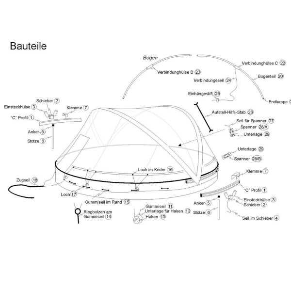 Ersatzfolie für Cabrio Dome Durchmesser 4,2 m