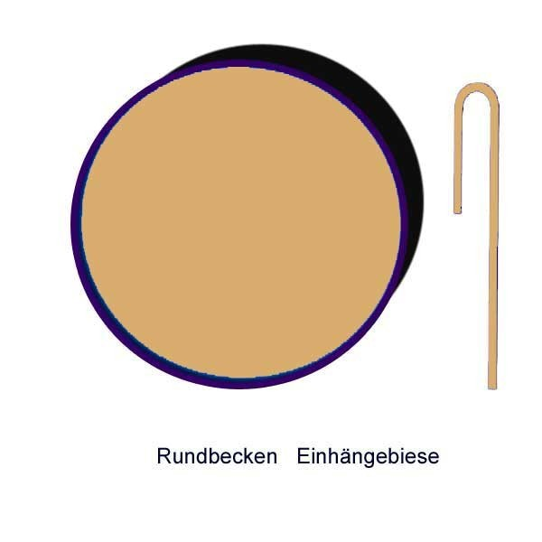 Ersatzinnenhülle Rundbecken 0,8 mm sandfarben mit Einhängebiese