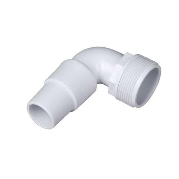 Winkelschlauchtülle  1 1/2 Zoll AG   auf 38 / 32 mm Schlauchanschluss
