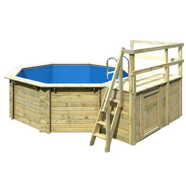 Karibu Holzpool Gartenpool Modell 1 Variante C