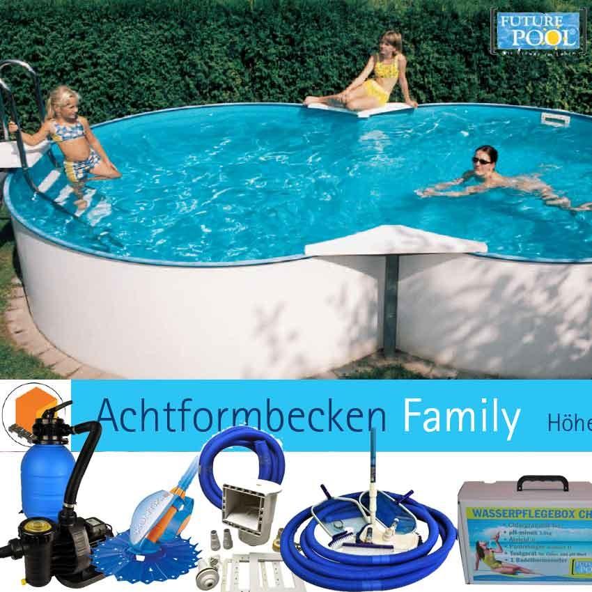 All in aufstellbecken set family 525 x 320 cm future pool for Aufstellbecken pool